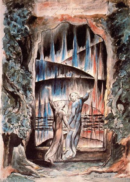 Dante and Virgil at Gates of Hell William Blake
